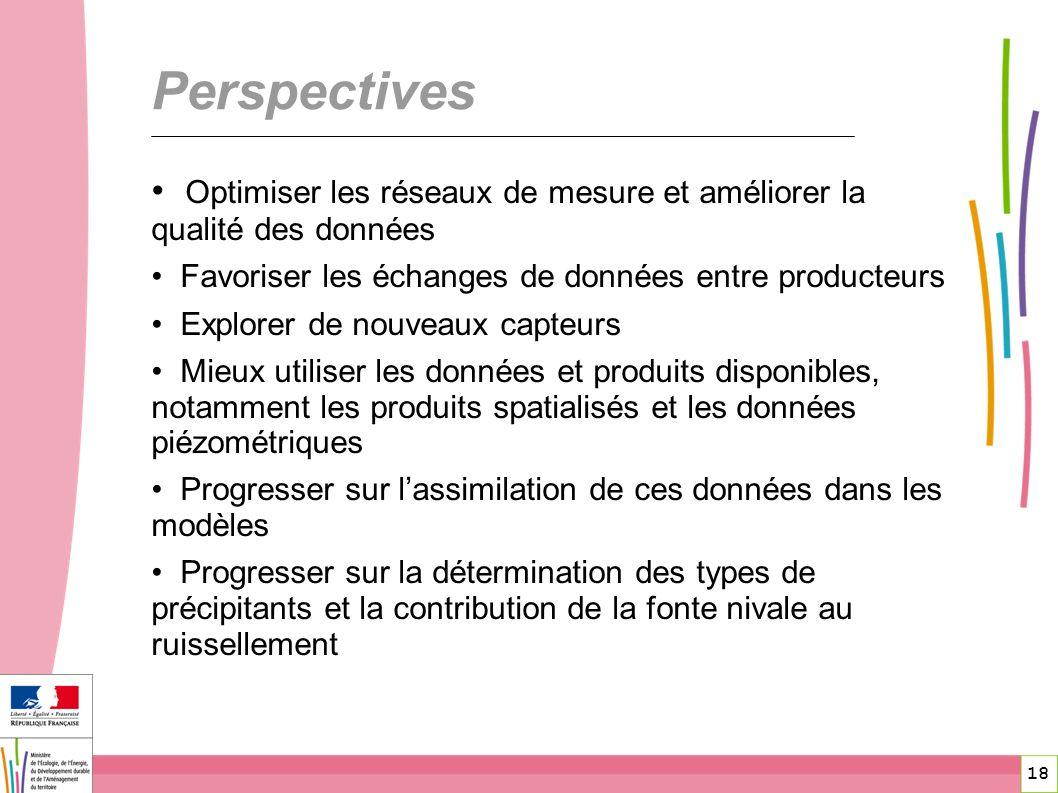 18 Perspectives Optimiser les réseaux de mesure et améliorer la qualité des données Favoriser les échanges de données entre producteurs Explorer de no