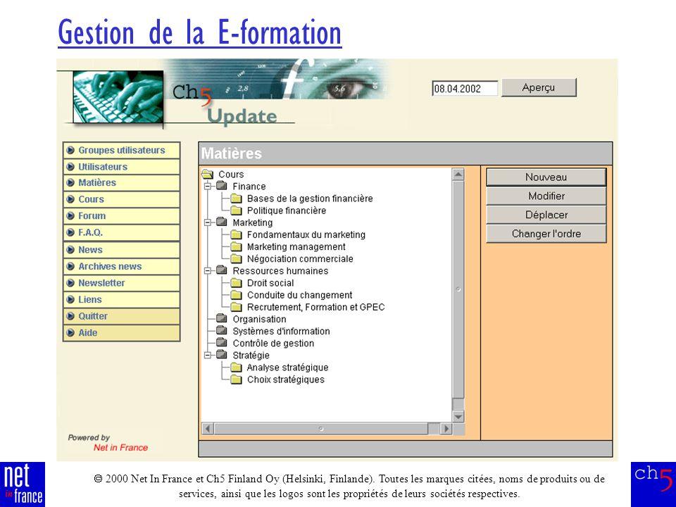 2000 Net In France et Ch5 Finland Oy (Helsinki, Finlande).