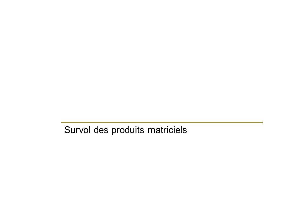 Survol des produits matriciels
