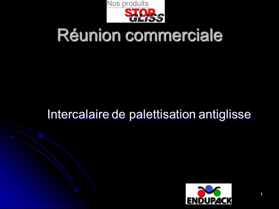 1 Intercalaire de palettisation antiglisse Réunion commerciale