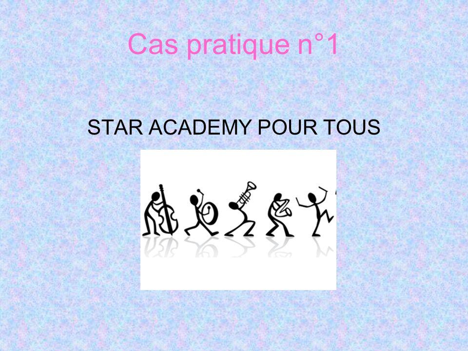 Cas pratique n°1 STAR ACADEMY POUR TOUS