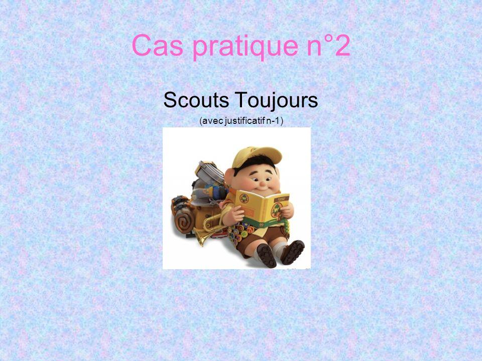 Cas pratique n°2 Scouts Toujours (avec justificatif n-1)