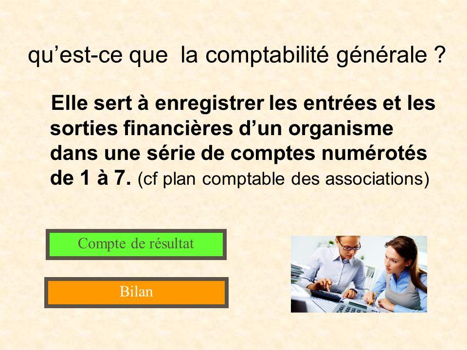 quest-ce que la comptabilité générale ? Elle sert à enregistrer les entrées et les sorties financières dun organisme dans une série de comptes numérot