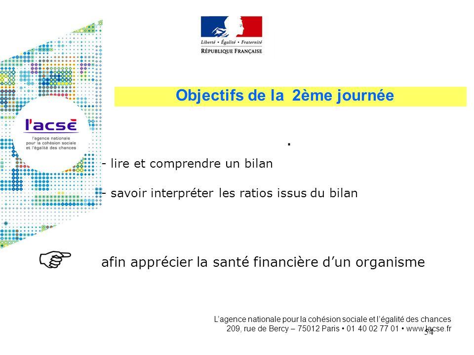 54 Lagence nationale pour la cohésion sociale et légalité des chances 209, rue de Bercy – 75012 Paris 01 40 02 77 01 www.lacse.fr Objectifs de la 2ème