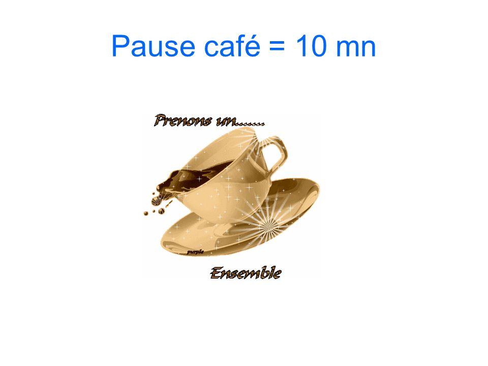 Pause café = 10 mn