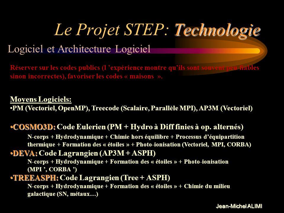 Jean-Michel ALIMI Science Le Projet STEP: Science Objectifs: Résultats et produits intermédiaires: Origine -du biais cosmologique, -de la séquence de