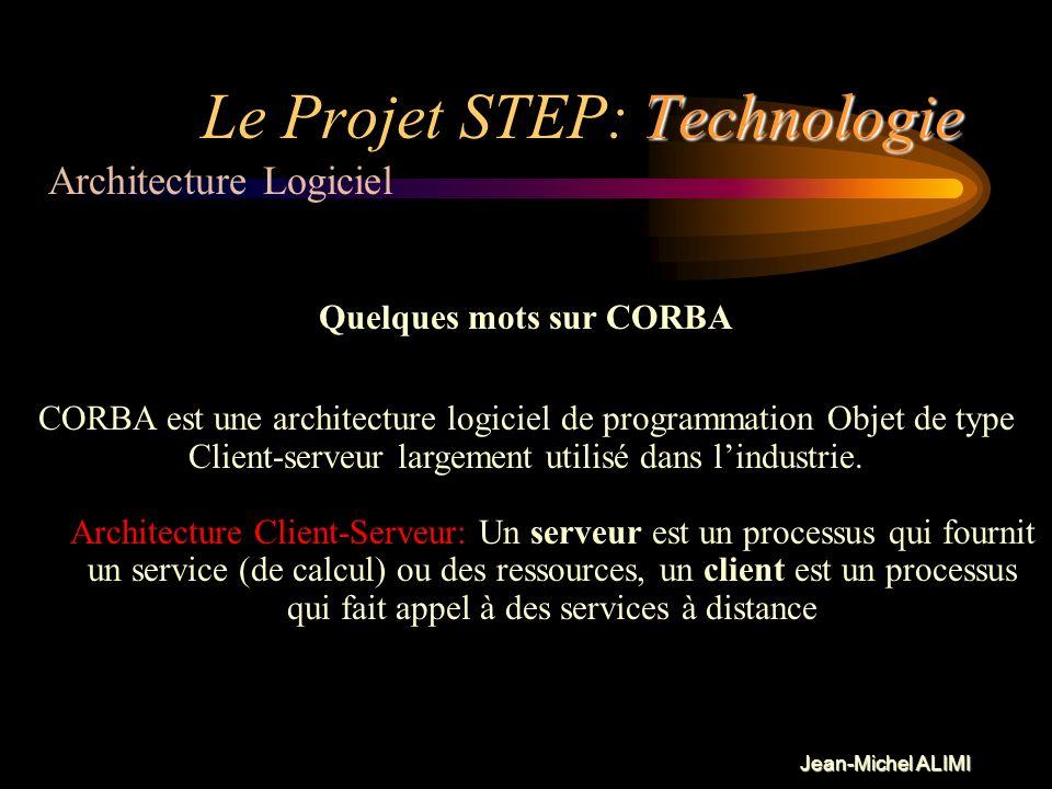 Jean-Michel ALIMI Technologie Le Projet STEP: Technologie Pour optimiser lutilisation des moyens dont nous pouvons disposer, puisquil est maintenant b