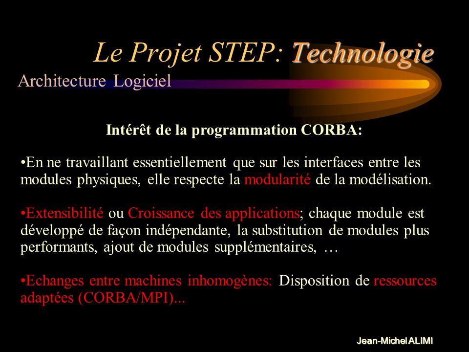 Jean-Michel ALIMI Technologie Le Projet STEP: Technologie Les Notions essentielles IDL (Interface definition language): Ce fichier définit les objets