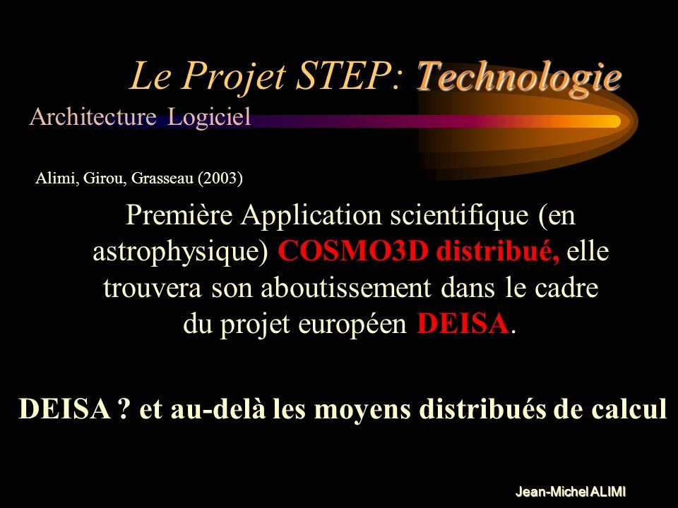 Jean-Michel ALIMI Technologie Le Projet STEP: Technologie Intérêt de la programmation CORBA: En ne travaillant essentiellement que sur les interfaces