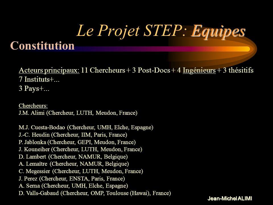 Jean-Michel ALIMI Technologie Le Projet STEP: Technologie Ce que lon veut démontrer avec cette application. –La faisabilité dune application CORBA –La
