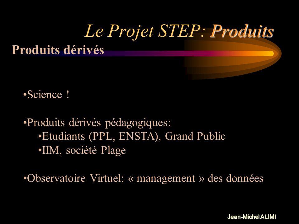 Jean-Michel ALIMI Politique Le Projet STEP: Politique Un projet ambitieux doit être supporté par plusieurs laboratoires et plusieurs instituts ou étab