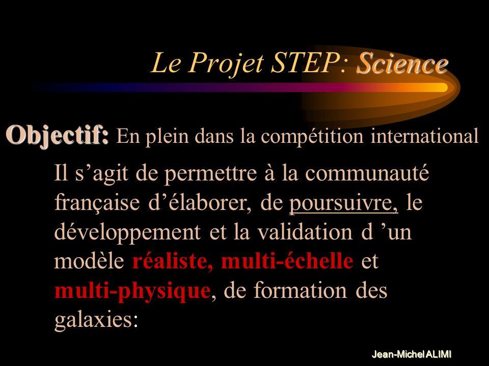 Jean-Michel ALIMI Le Projet STEP Science: Science: Contexte, Objectifs (principal et intermédiaires ) Technologie: Technologie: Logiciels, Architectur