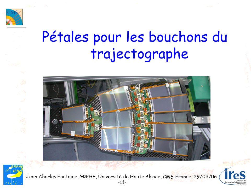 Jean-Charles Fontaine, GRPHE, Université de Haute Alsace, CMS France, 29/03/06 -11- Pétales pour les bouchons du trajectographe