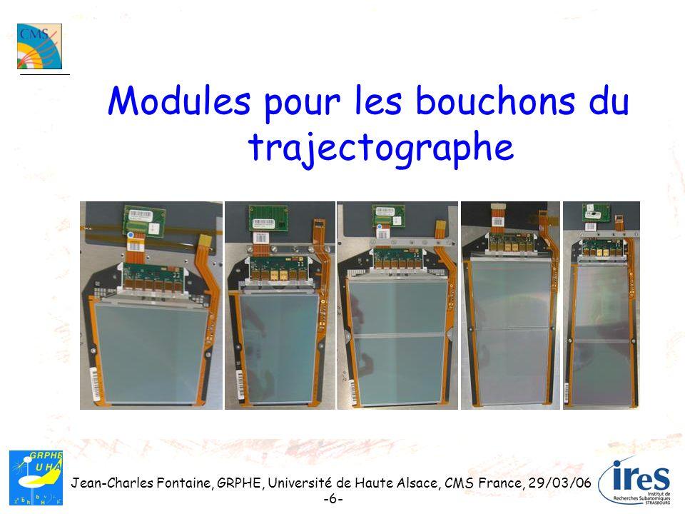 Jean-Charles Fontaine, GRPHE, Université de Haute Alsace, CMS France, 29/03/06 -17- Qualité globale des pétales 3 bad channels presque tous les modules avec Ileak < 2 µA