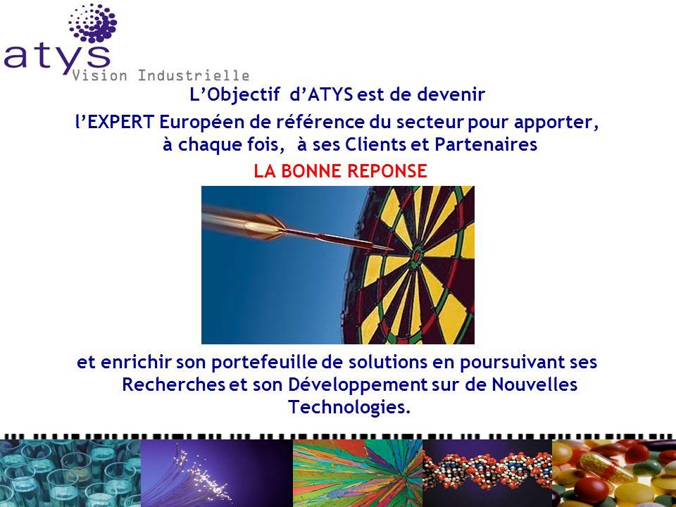LObjectif dATYS est de devenir lEXPERT Européen de référence du secteur pour apporter, à chaque fois, à ses Clients et Partenaires LA BONNE REPONSE et