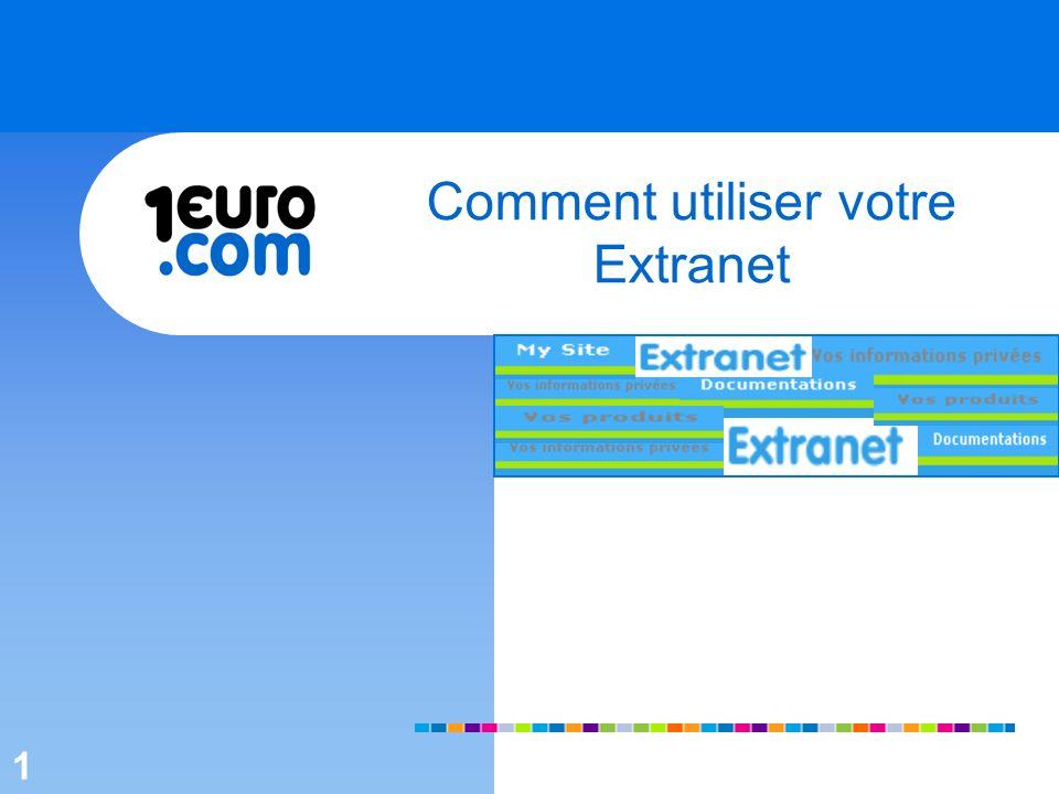 1 Comment utiliser votre Extranet 1