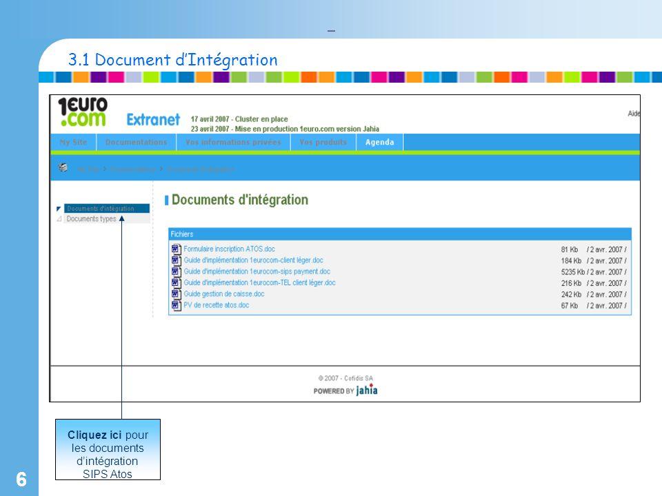 6 Cliquez ici pour les documents dintégration SIPS Atos 3.1 Document dIntégration