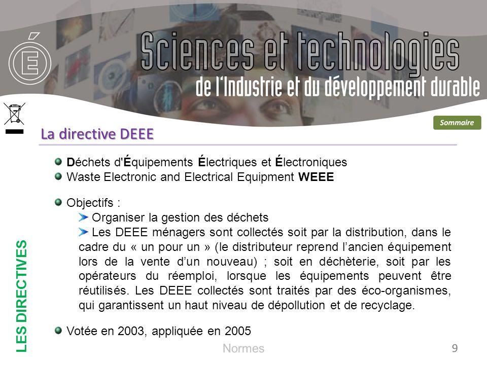 Energy-Using Products Produits Utilisant de l Énergie Objectifs : Réduire la consommation des appareils électriques et électroniques grâce à une meilleure conception (éco-conception).