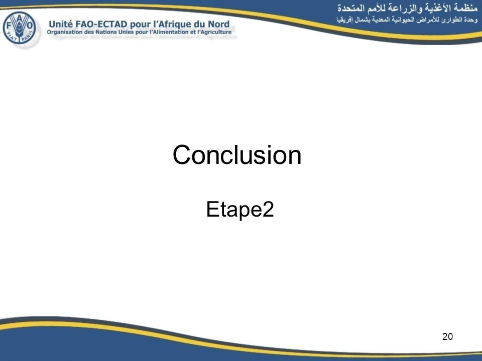Conclusion Etape2 20