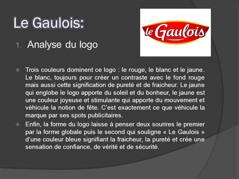 1. Analyse du logo Trois couleurs dominent ce logo : le rouge, le blanc et le jaune. Le blanc, toujours pour créer un contraste avec le fond rouge mai