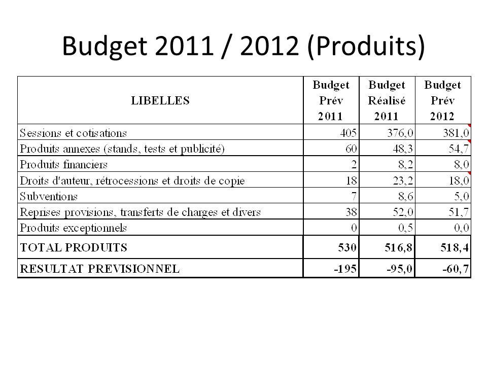Budget 2011 / 2012 (Produits)