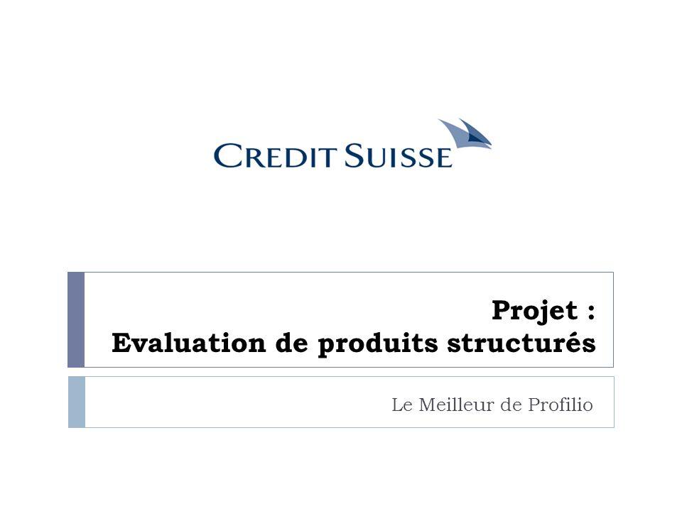 Projet : Evaluation de produits structurés Le Meilleur de Profilio