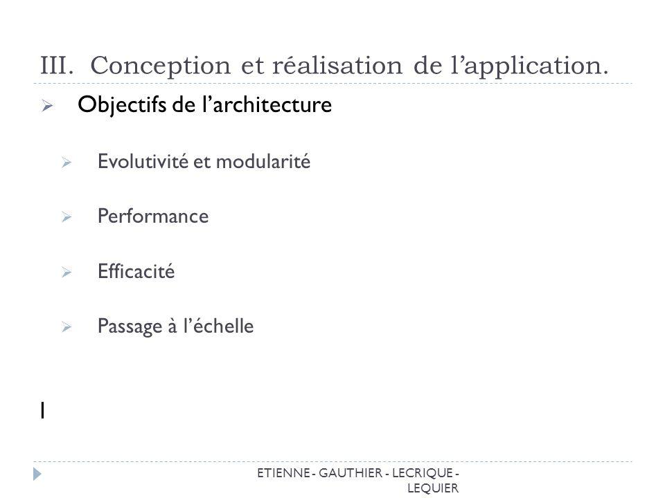 ETIENNE - GAUTHIER - LECRIQUE - LEQUIER III.Conception et réalisation de lapplication.