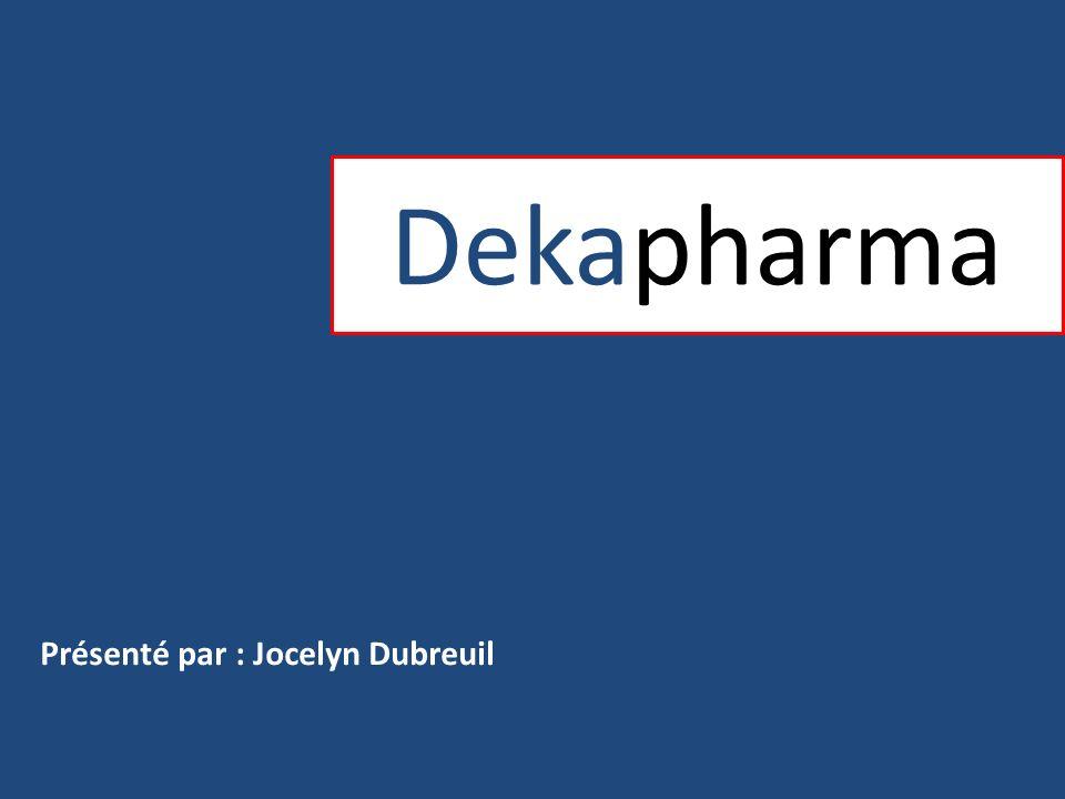 Dekapharma Ordre de présentation: -Profil de notre compagnie -Produits vedettes -Partie du territoire global des ventes -Plan pour la promotion des produits -Personne visée par le projet -Projets rattachés à tous les plans -Partage du budget
