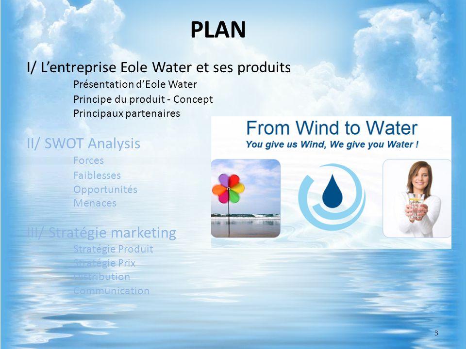 Système unique => pas de concurrence Turbine recyclable => protection de lenvironnement Liées aux conditions climatiques Coût de maintenance II/ SWOT Analysis Forces Faiblesses 14