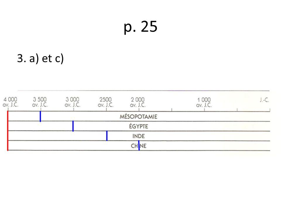 p. 25 3. a) et c)