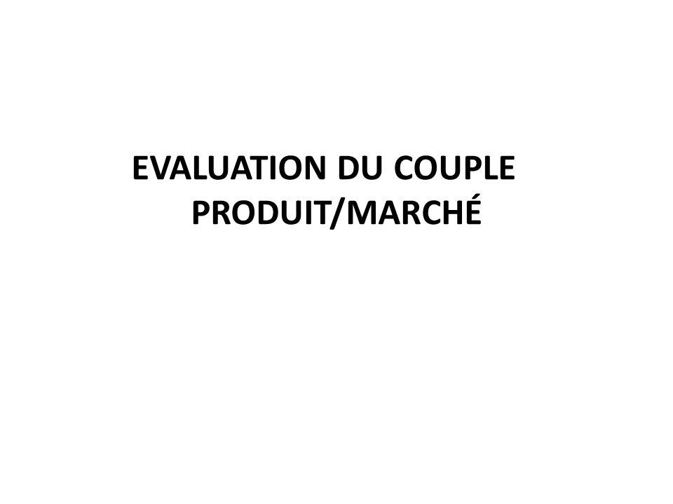 EVALUATION DU COUPLE PRODUIT/MARCHÉ