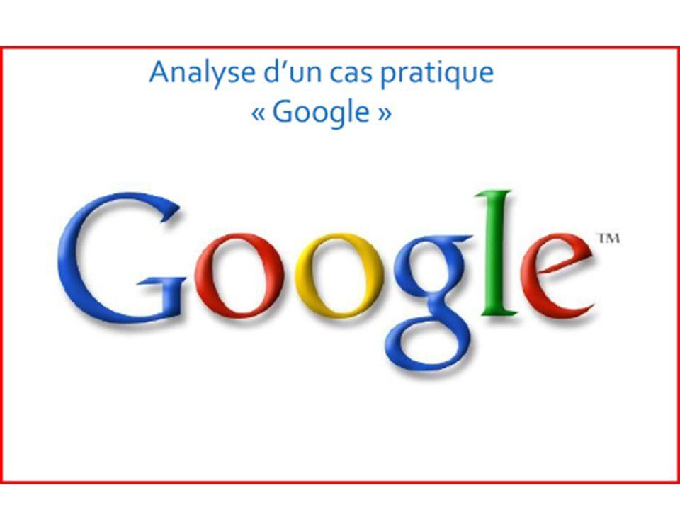 Cas pratique « Google » Présentation de «Google» Fondée en 1997 par deux étudiants, Larry Page et Sergey Brin, Google édite depuis son début un moteur de recherche qui est devenu avec le temps le plus populaire dans le monde, Google Search qui avait le nom de code BackRub (1995-1997).
