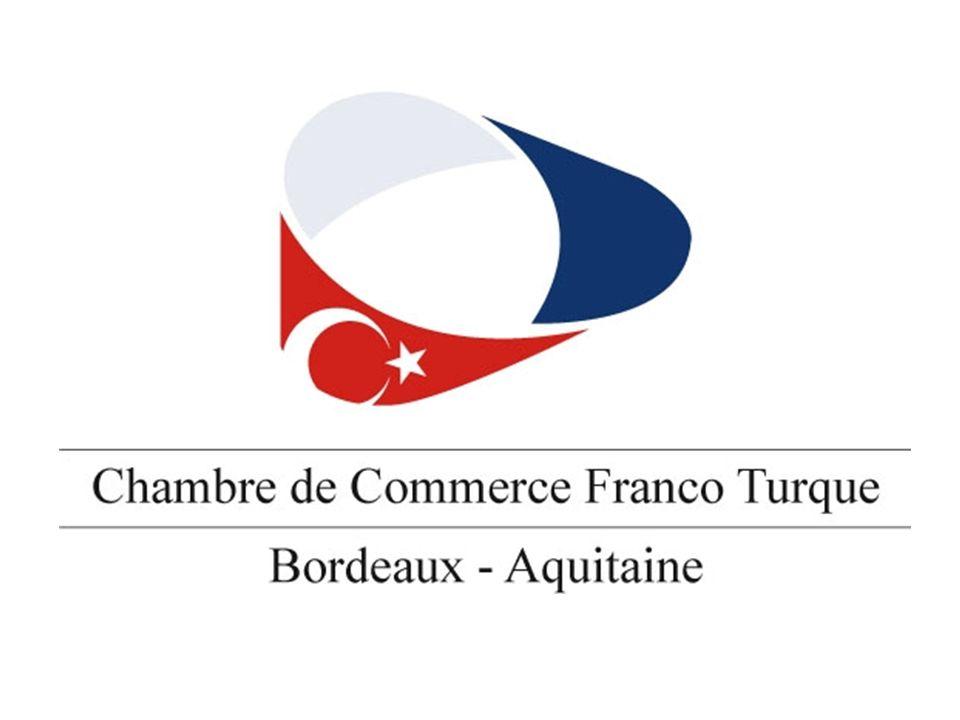 Création de la Chambre de Commerce Franco- Turque au niveau national dans les années 70 Puis volonté de créer un réseau de Chambres régionales Marseille, puis Paris Et, en 2008, création de la Chambre Bordeaux – Aquitaine (CCFTBA) Dans les prochaines années, créations prévues à Toulouse, Strasbourg, Lille et Lyon.
