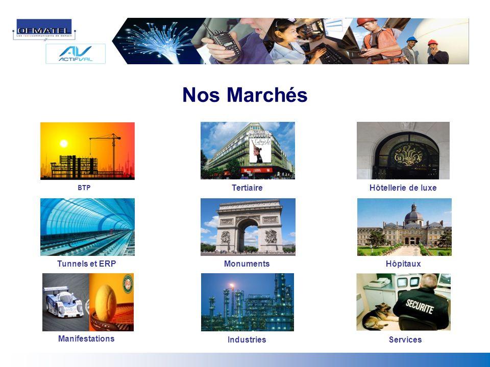 Tertiaire Manifestations Monuments BTP Tunnels et ERP IndustriesServices Hôpitaux Hôtellerie de luxe Nos Marchés