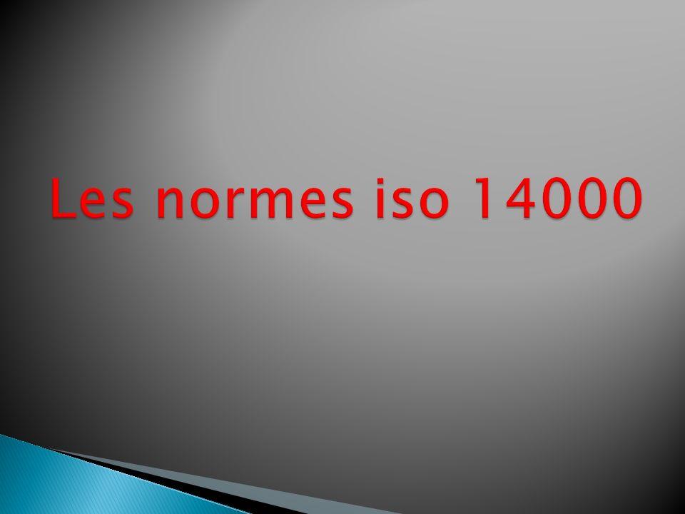 Iso14001: qui est une norme de spécialisation, elle fournit une liste des exigences ou de niveau à atteindre.