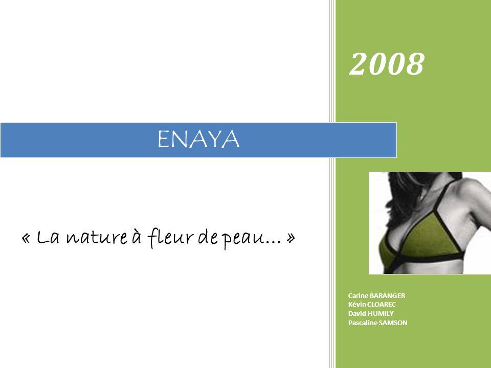 « La nature à fleur de peau… » 2008 Carine BARANGER Kévin CLOAREC David HUMILY Pascaline SAMSON ENAYA