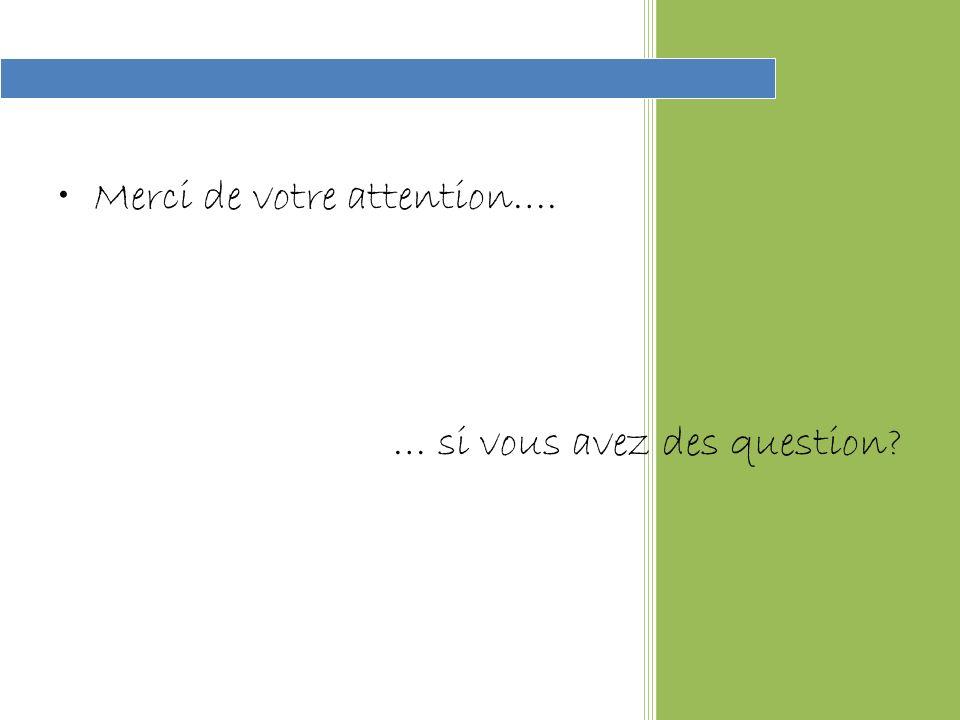 Merci de votre attention…. … si vous avez des question?