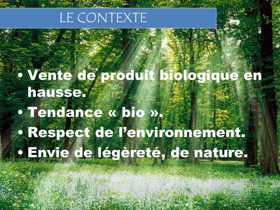 Vente de produit biologique en hausse.Tendance « bio ».