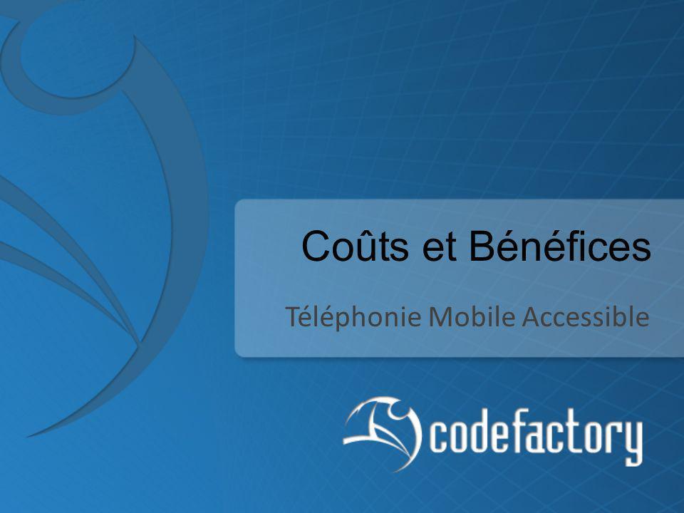 Coûts et Bénéfices Téléphonie Mobile Accessible