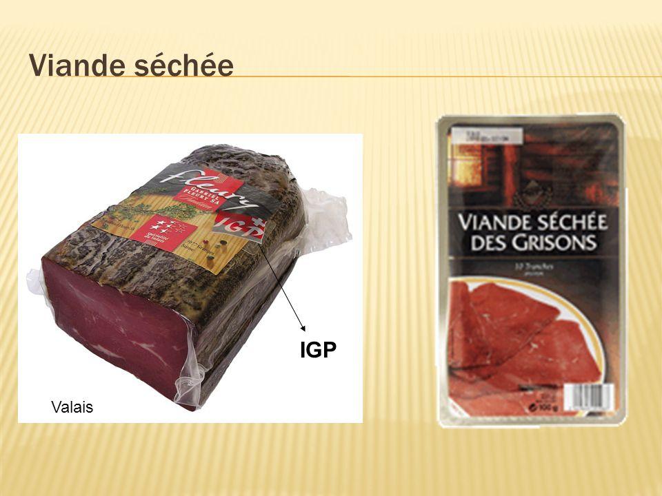 Viande séchée Valais IGP