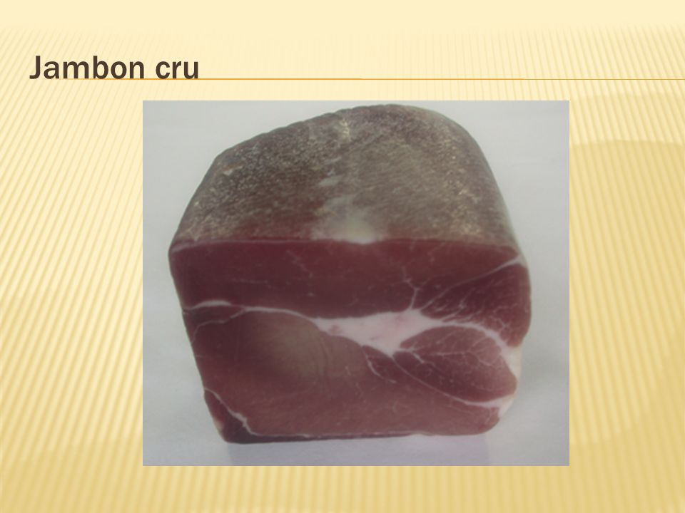 Jambon cru
