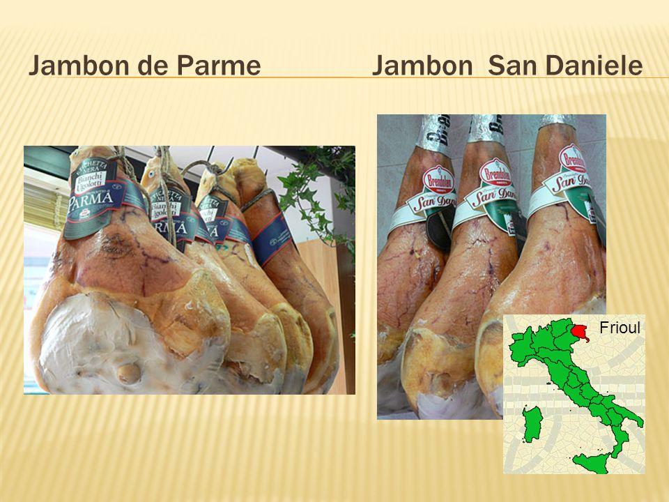Jambon de Parme Jambon San Daniele Frioul