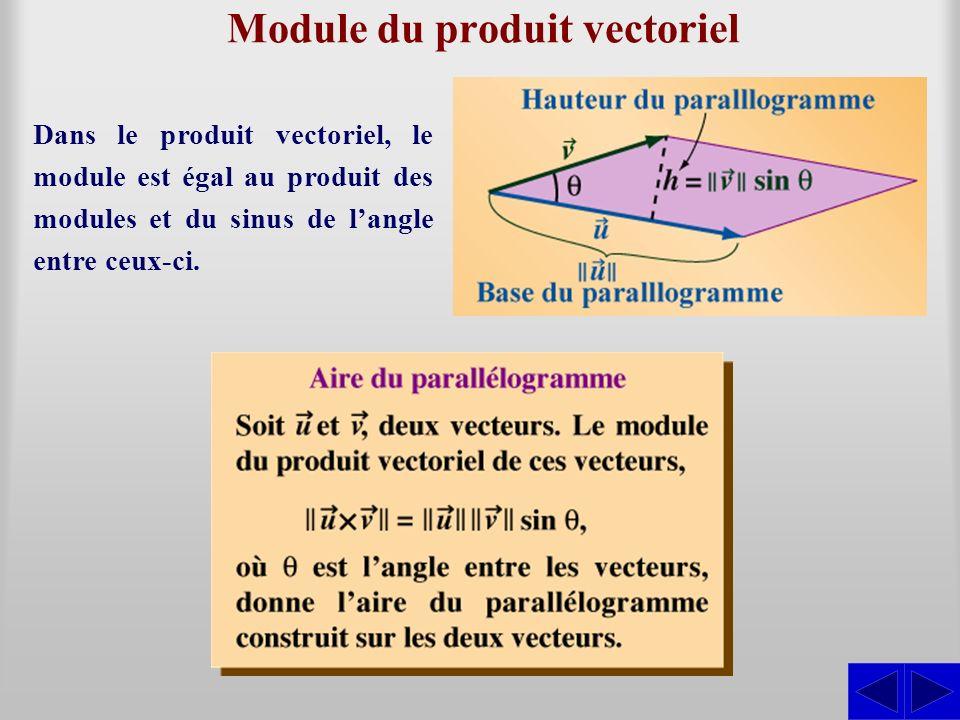 Produit vectoriel de vecteurs algébriques En géométrie vectorielle, on utilise ce produit pour calculer la distance dun point à une droite.