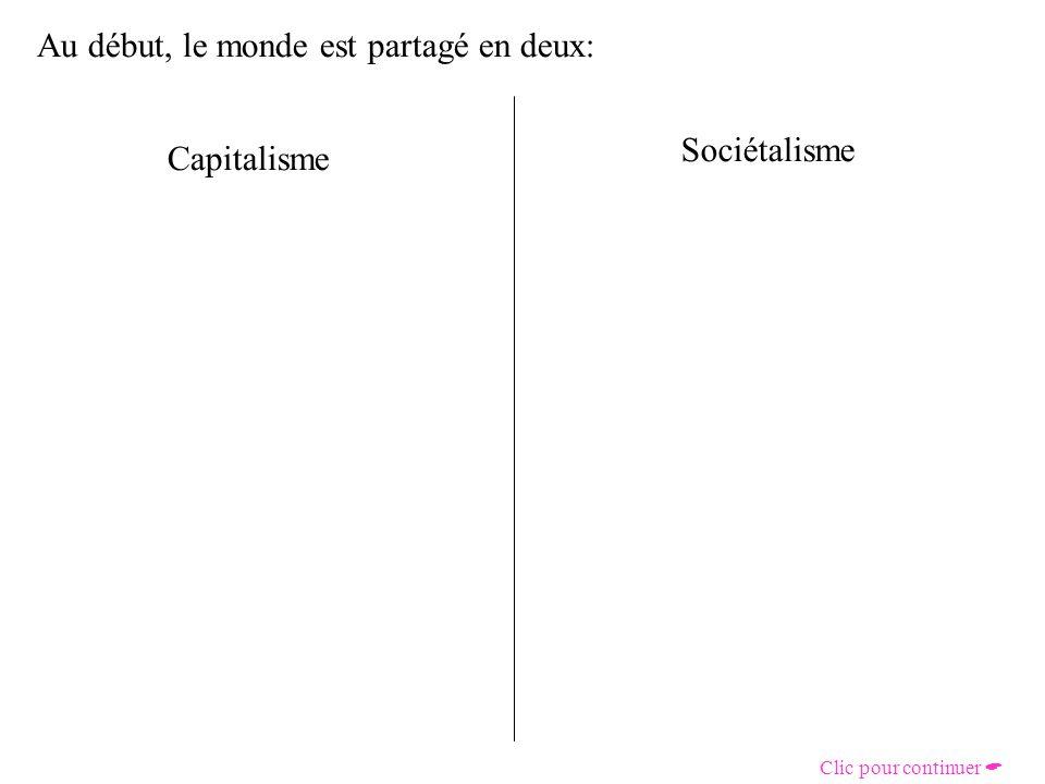 Au début, le monde est partagé en deux: Capitalisme Sociétalisme Clic pour continuer