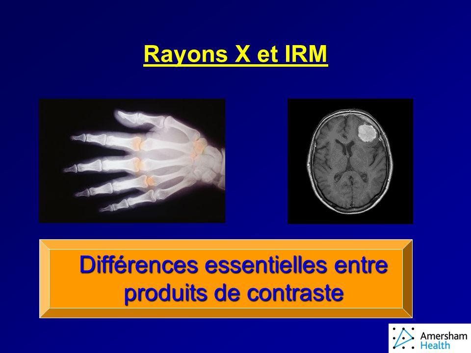 RAYONS X Contraste créé par les différences de densité électronique Densité proportionnelle au Z Les photons X sont « absorbés » par les électrons CONTRASTE DIRECT