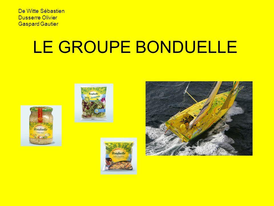 LE GROUPE BONDUELLE De Witte Sébastien Dusserre Olivier Gaspard Gautier