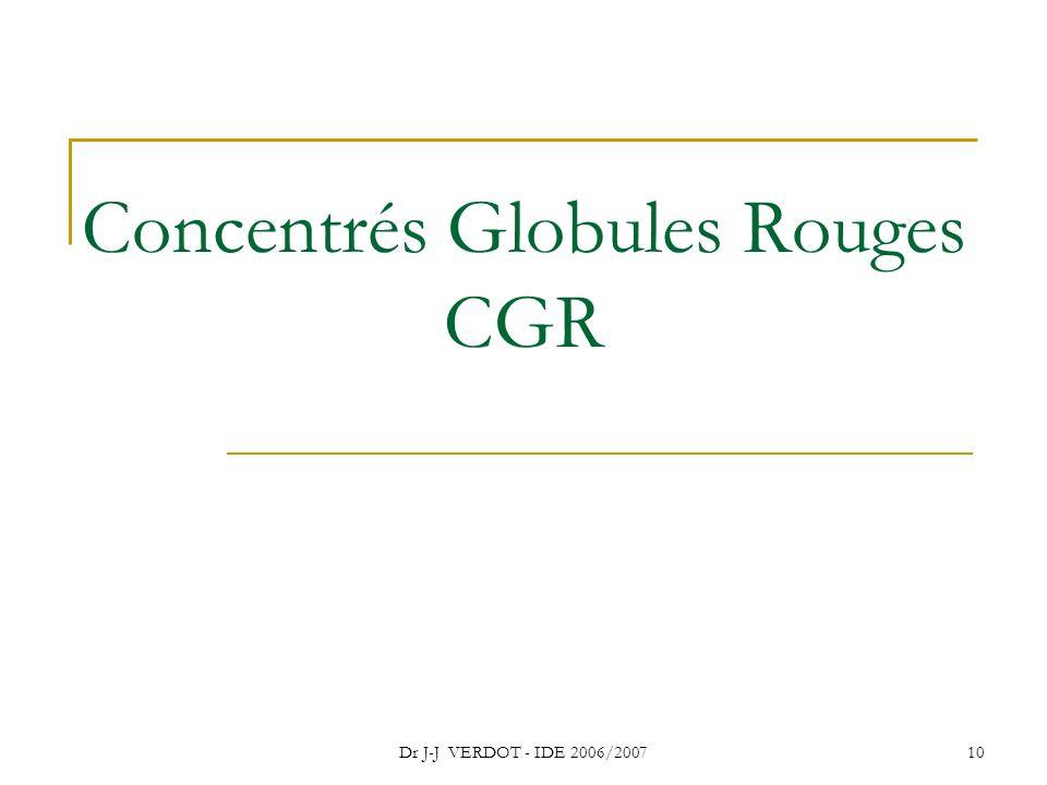10 Concentrés Globules Rouges CGR
