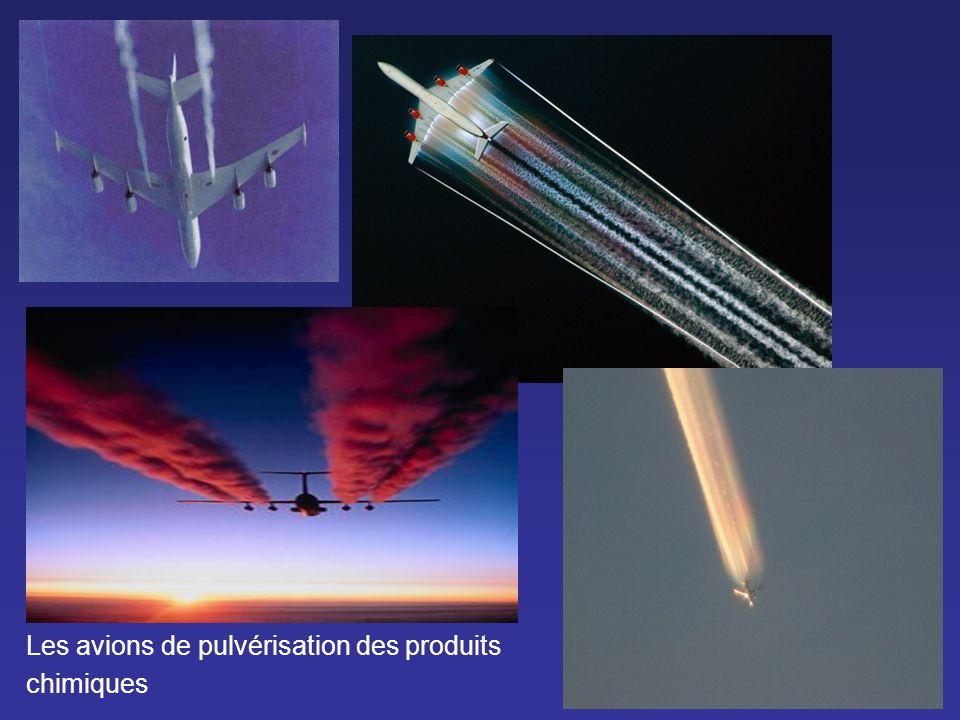 Les avions de pulvérisation des produits chimiques