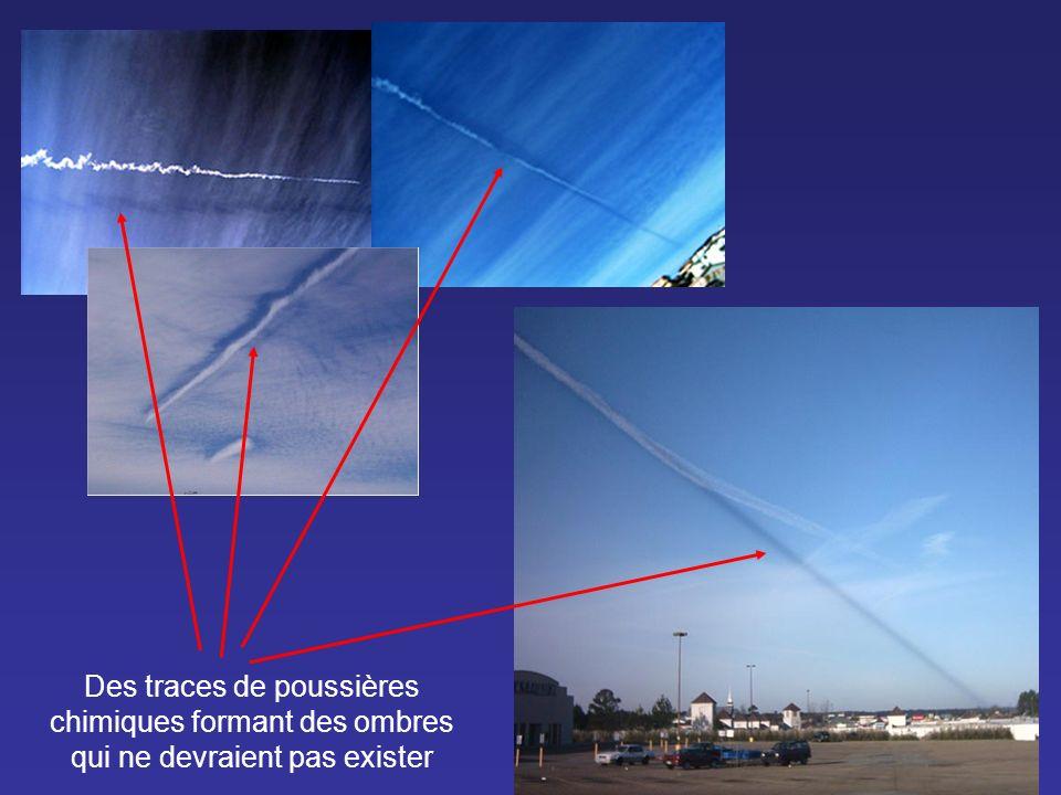 Des traces de poussières chimiques formant des ombres qui ne devraient pas exister