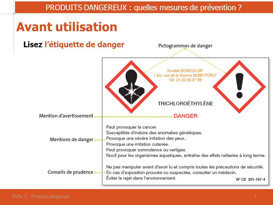 77 PRODUITS DANGEREUX : quelles mesures de prévention .